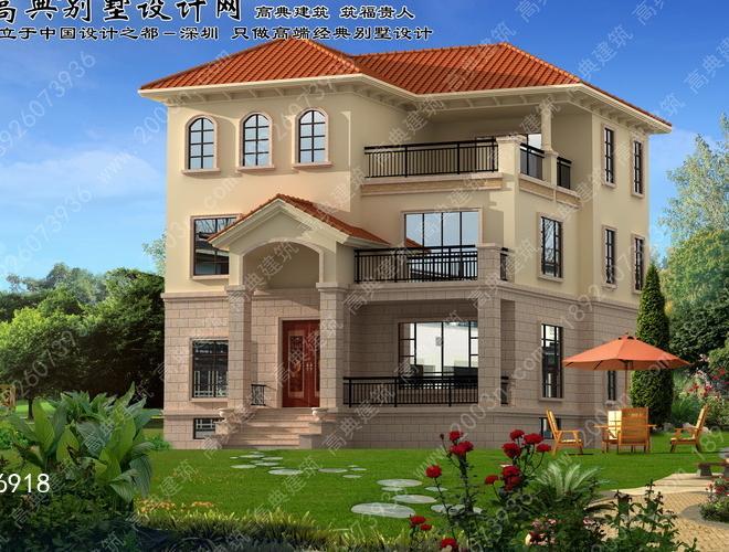 别墅风格一层设计农村展示叠加别墅装修图纸图片