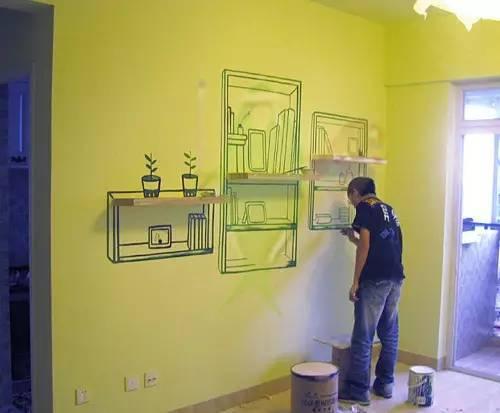 家居手绘墙面涂鸦秘笈学起来,韩国梨花村火了