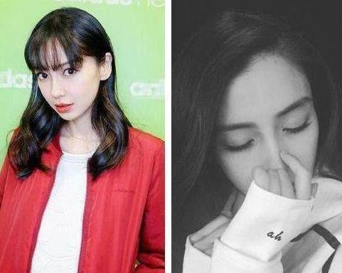 杨颖齐刘海,满屏的少女感图片