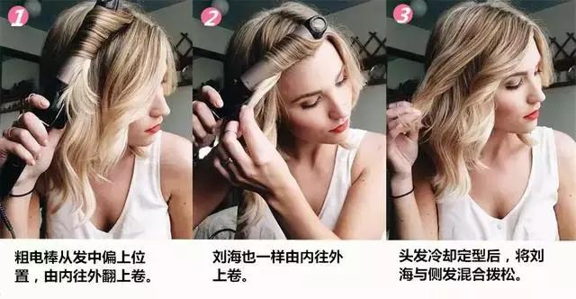 零碎麻花低扎发型图片