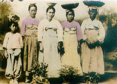 老照片 直击百年前中国日本朝鲜妇女生活旧照