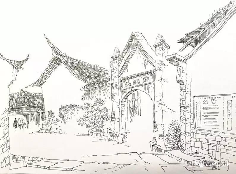 手绘| 彭州老街,别来无恙?
