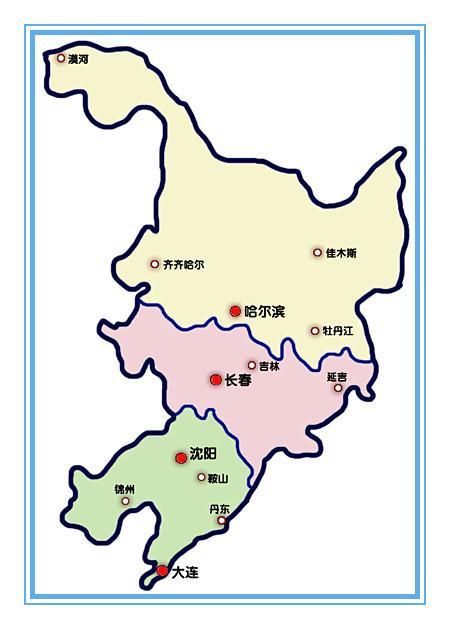 清朝城市手绘地图