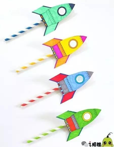 纸箱火箭手工制作