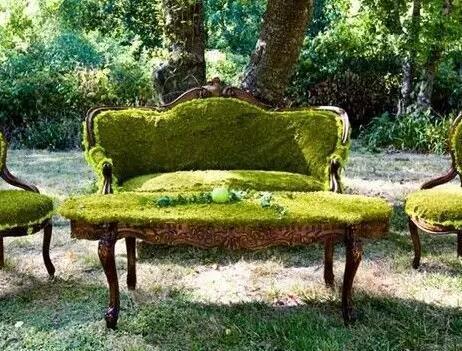 创意景观小品 家里座椅摇身一变 成一道景观