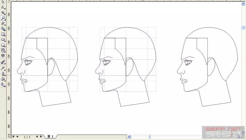 新手速递 coreldrew绘画侧面人体方法