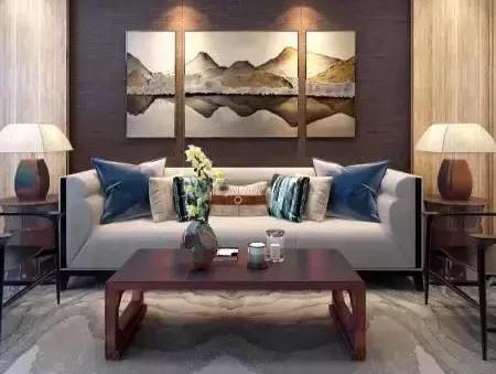 新中式沙发墙案例集锦图片
