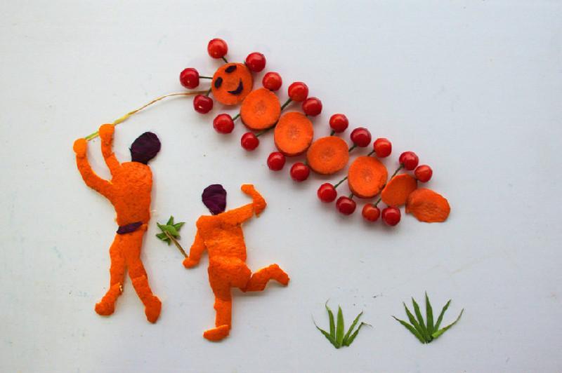 用蔬菜做成的创意画,幼师家长们快来看一下