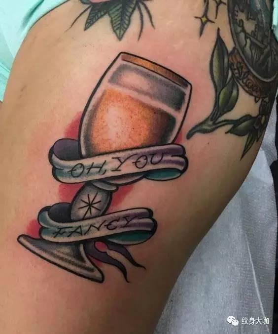 纹身素材:酒