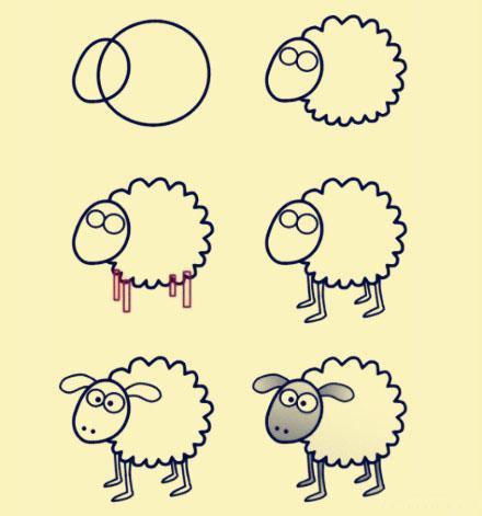 一个圆圈圈教会你画简笔画,学起来教宝宝