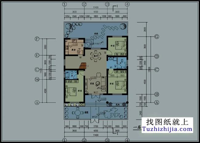 经典实用型一层别墅设计图纸