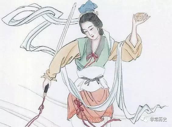手绘漫画人物李白