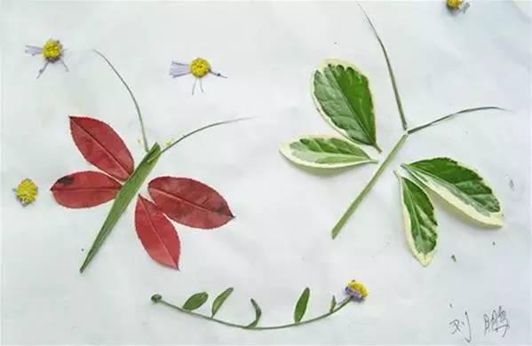 小金鱼-树叶拼贴画手工制作大全 送给家长孩子