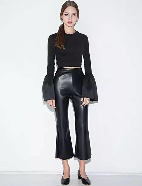 皮裤的正确穿搭方式,你值得拥有