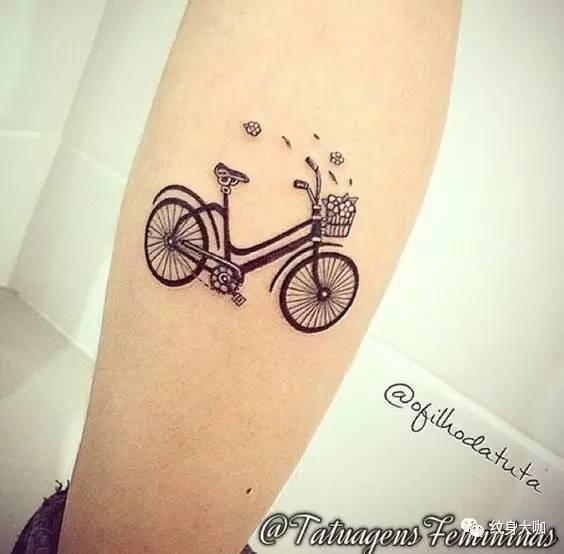 纹身素材:自行车图片