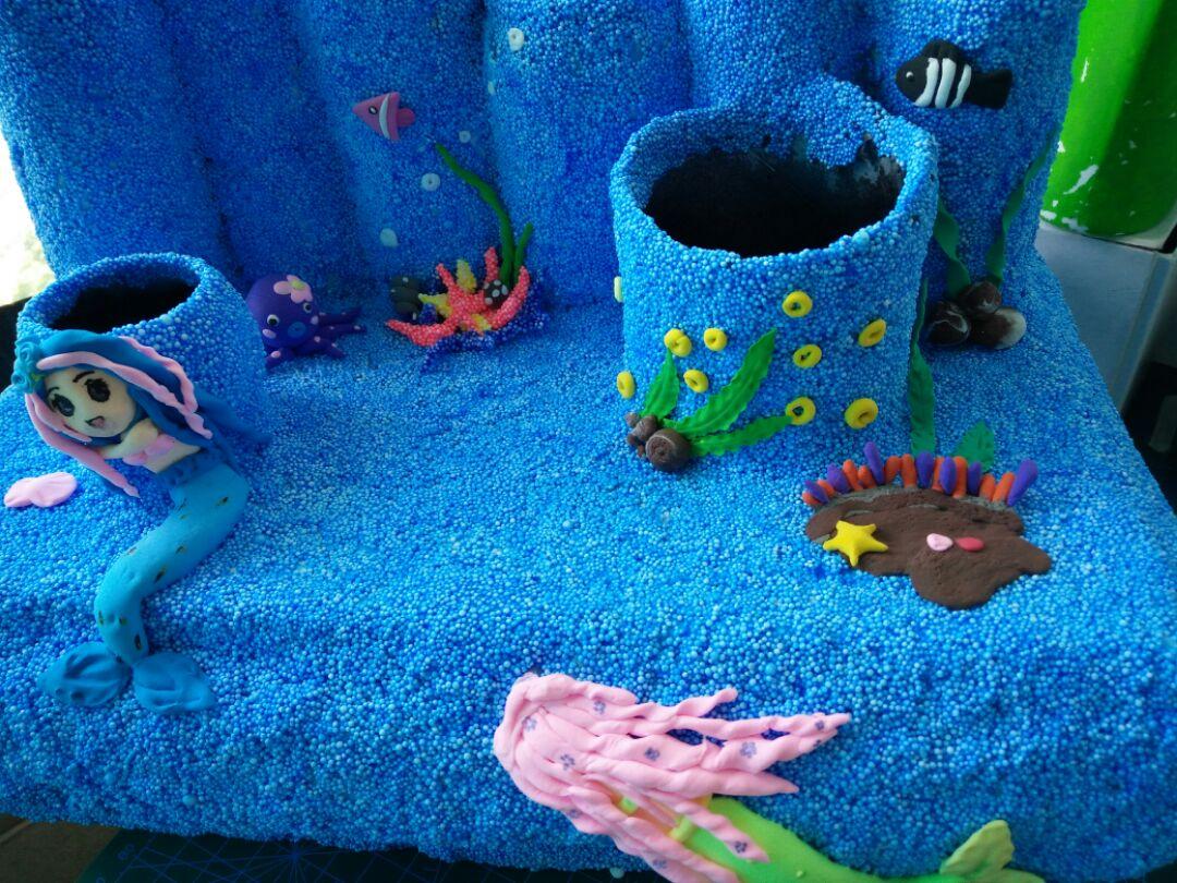 海底世界——纸盘粘贴画(要求4岁以上,名额12个)