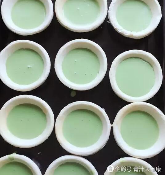 """青汁美食:青汁蛋挞的做法"""""""