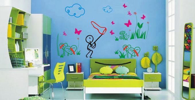 2017流行儿童房墙面涂鸦设计赏析图片