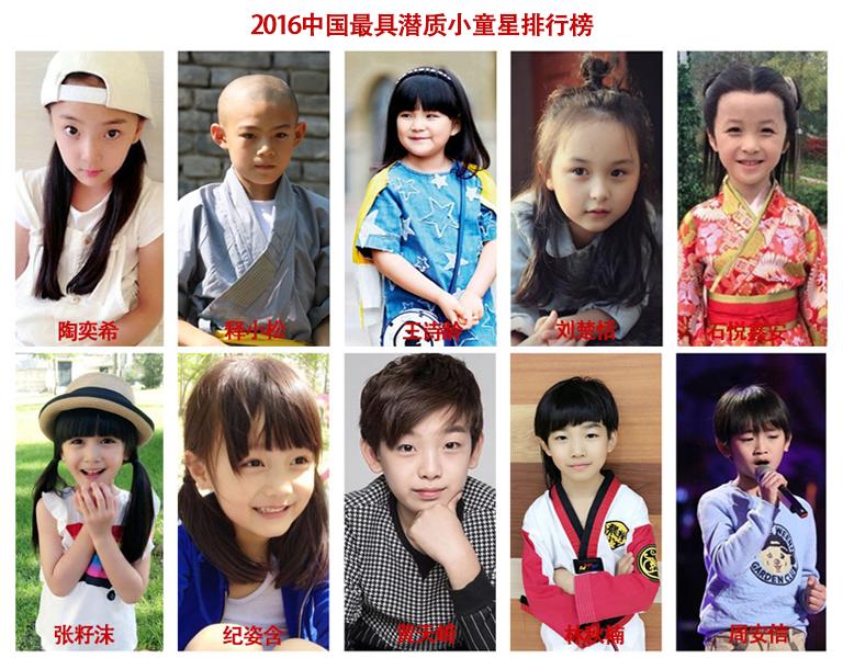 童星排行榜女|中国小童星排行榜:2016中国最具潜质小童星排行榜
