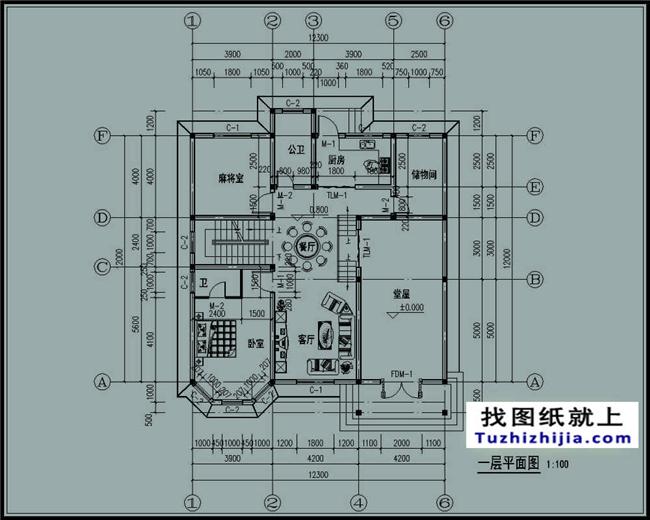 建筑构造详细说明,门窗表及说明,构造节点详图,一层别墅平面图,二层