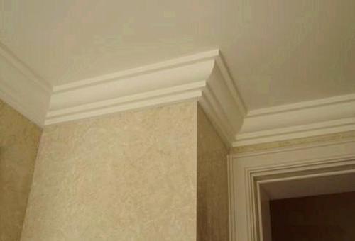 家里装修不吊顶用石膏线简单走一圈,简约又大方!
