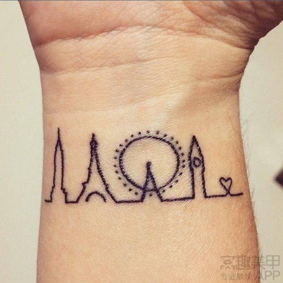 简单的手腕纹身 竟比手链还漂亮!