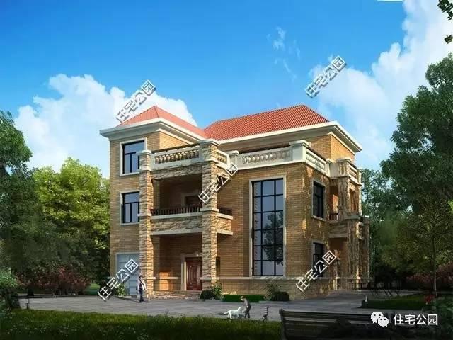 3层农村别墅14x13.7米,挑空客厅,大气实用