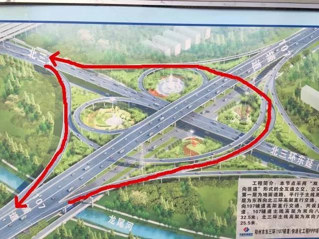 东三环(107辅道)快速化工程 北三环到陇海路段高架桥图片