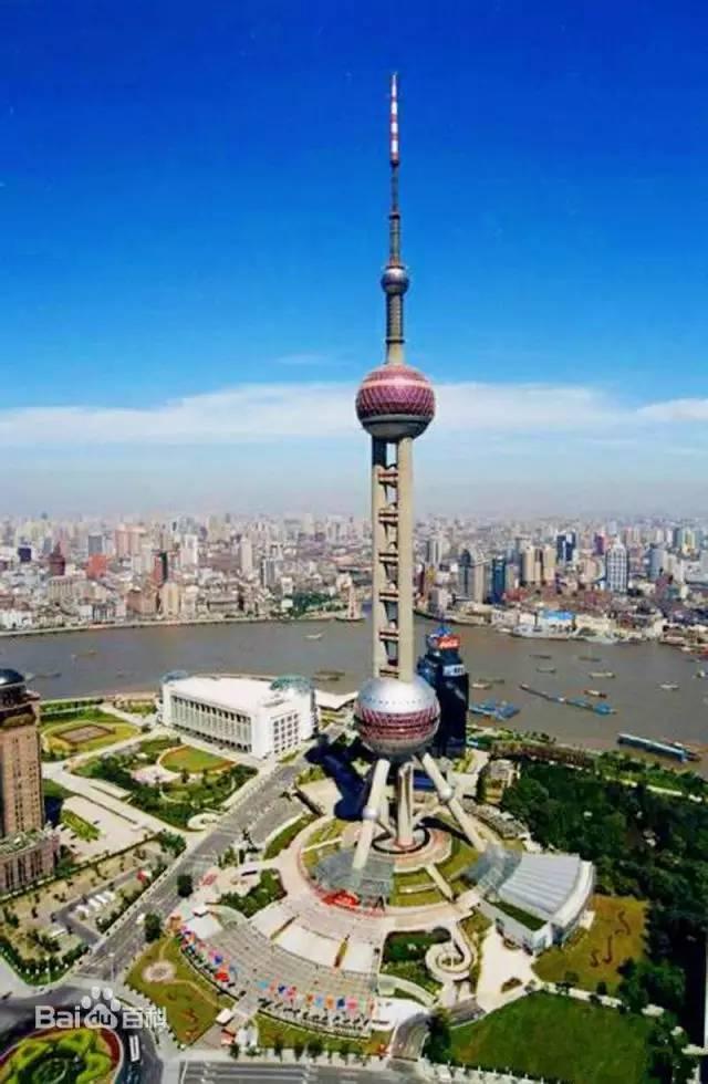 东方明珠塔全景图图片