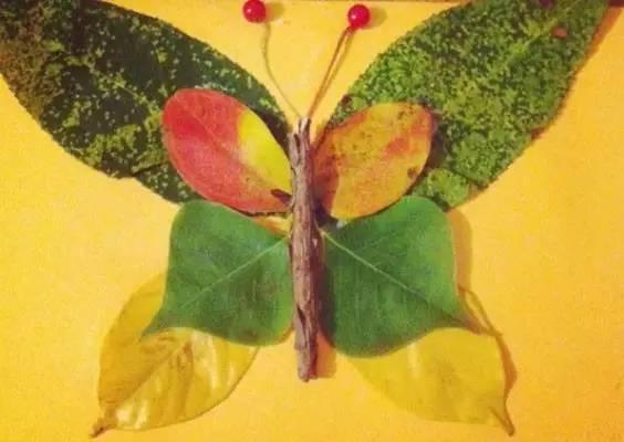 树叶昆虫手工制作图片