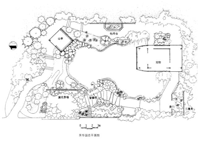 公园平面图cad手绘