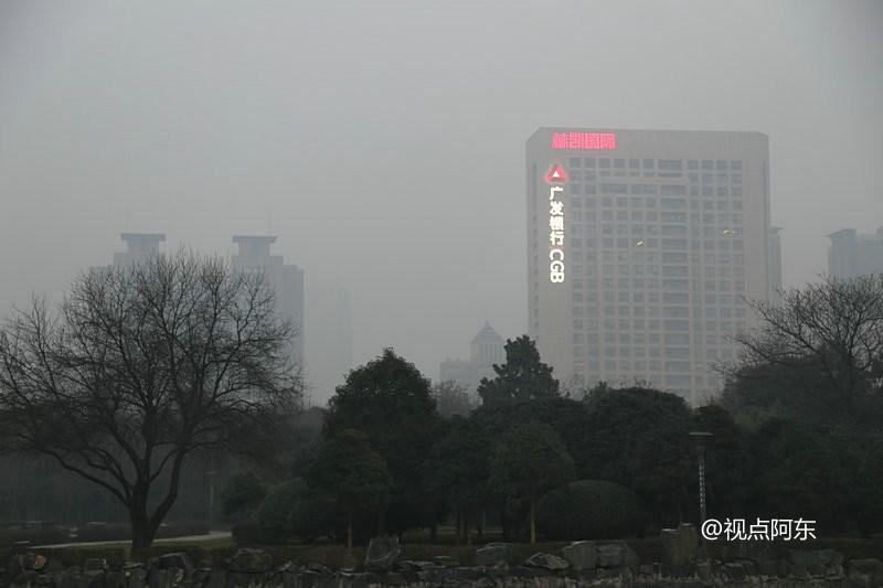 2017新年第一天  西安再陷重度雾霾 - 视点阿东 - 视点阿东
