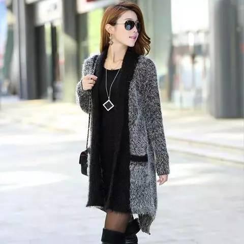 冬季中长款少女针织身姿展现a少女迷人女生从名开头英文r外套图片