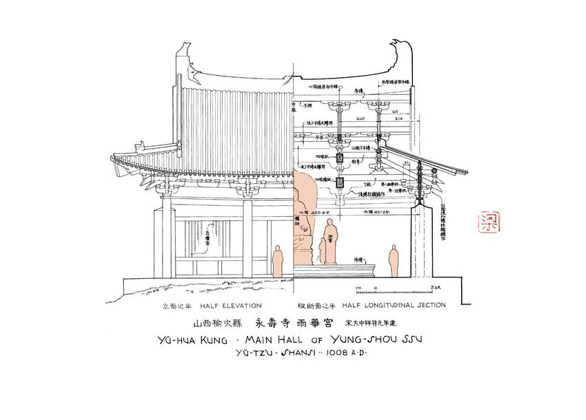 梁思成手绘建筑