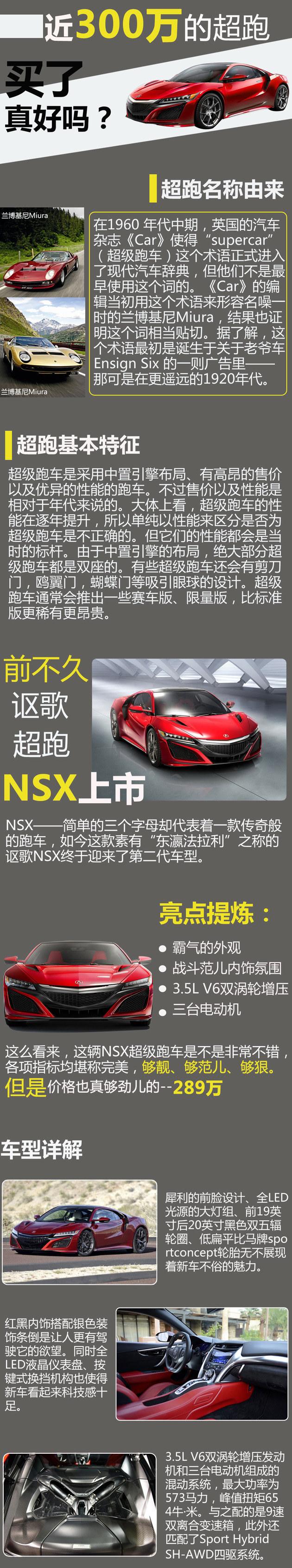 """将近300万讴歌NSX超跑 买了真的好吗?"""""""