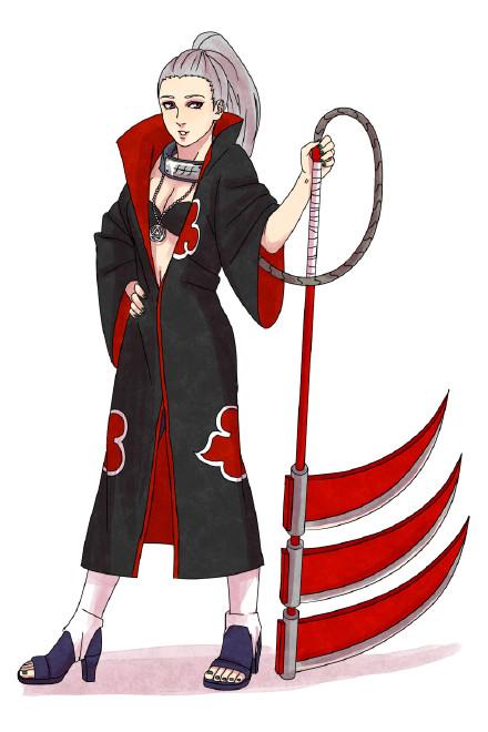 火影忍者晓组织女生版美图,鼬无变化,迪达拉