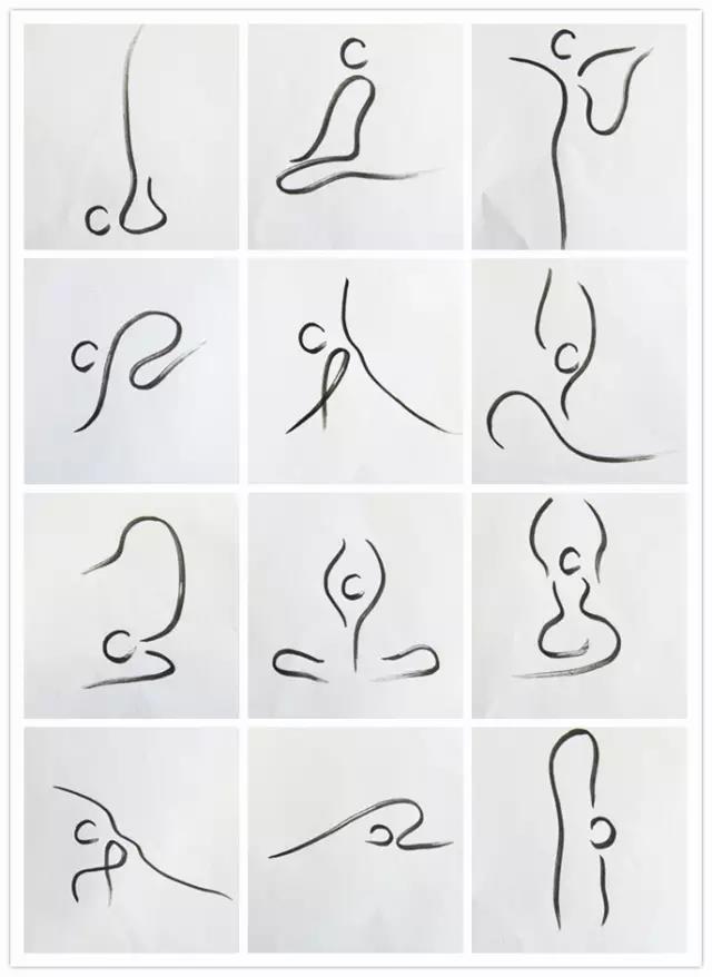 瑜伽小人图-全套瑜伽小人图片大全/瑜伽拜日式小人图图片
