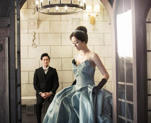 2017韩式复古风格婚纱照图片