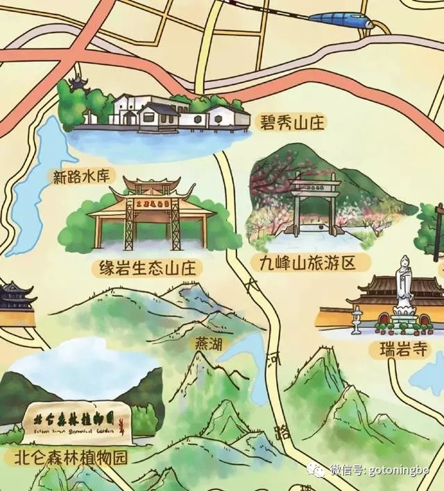 旅游 正文  本次地图手绘了近70个景点景区农家乐酒店商场地铁政府