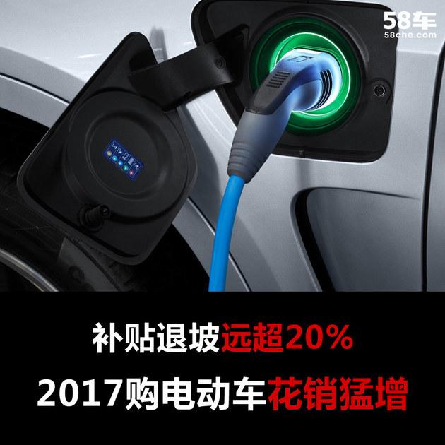 """2017购电动车花销猛增 补贴退坡远超20"""""""