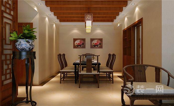80㎡新中式风格装修案例 沙发背景墙好有文化韵味图片