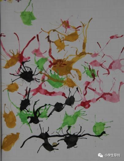 ——一年级李可欣   吹一吹,画一 用吸管吹一吹,彩笔画一画,一幅