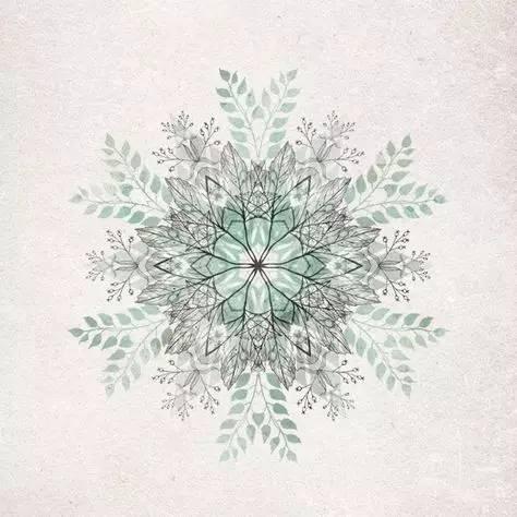 来一波雪花纹身,温暖过冬天!