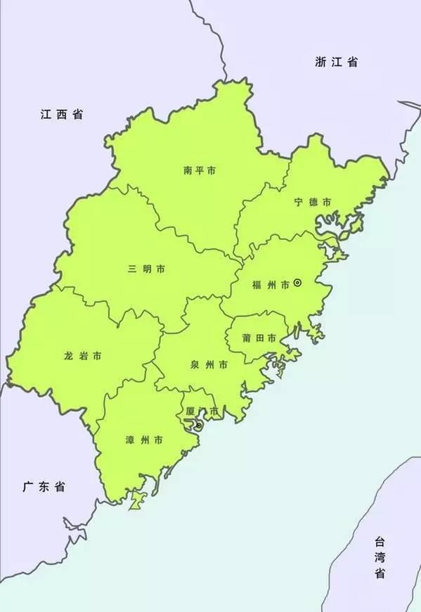 福建地图全图高清版