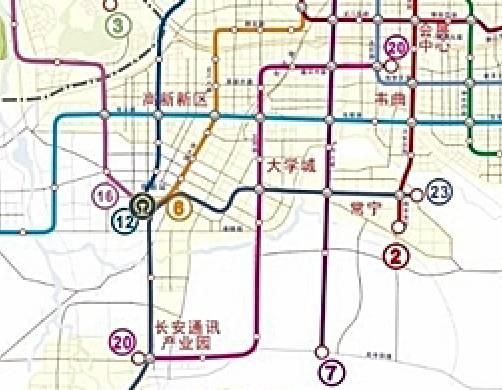 大西安地铁最新规划,未来将建23条线 2图片 39238 502x390-西安地