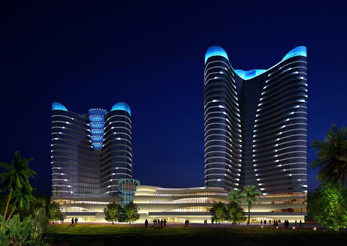 酒店亮化 楼体亮化 城市景观亮化工程