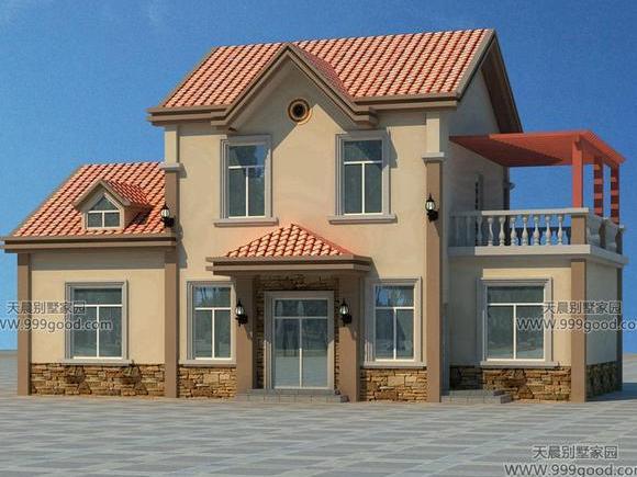 新农村小户型别墅设计图, 二层13.2x7米实用还耐看