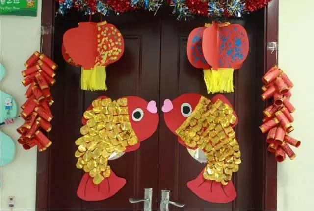 """【新年环创】充满""""中国风""""的幼儿园新年主题环创"""