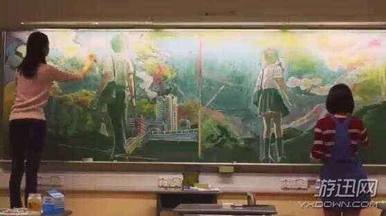 黑板报花边纹样设计1000例|绘制《你的名字》图片