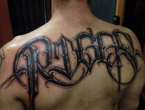 纹身|花体英文